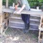 Making compost bin