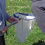 Inspecting invertebrate catch in sweepnet