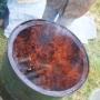 Charcoal in drum mid-burn ii