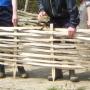 Finished garden border hurdle
