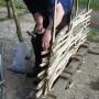 Nailing hurdles binders to stakes