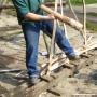 Weaving binders using hurdle jig