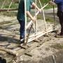 Weaving hurdle binders around stakes