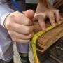 Measuring up timber for a Bat Box