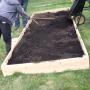 Infilling raised beds