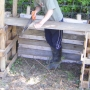 Making compost bin