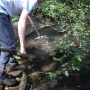 Ghyll stream surveying with pond nets