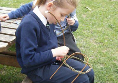 Easter nest weaving